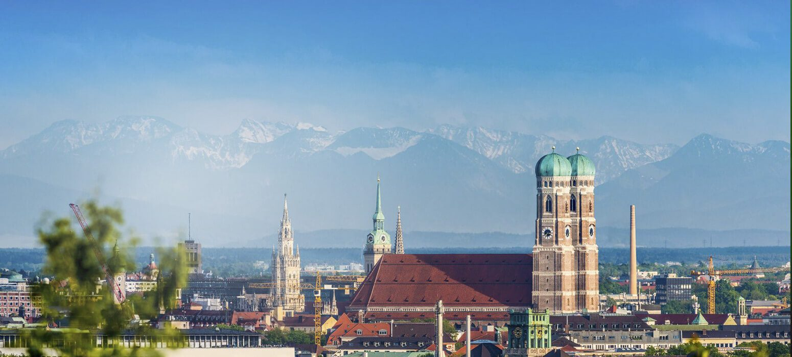 Panoramabild von München, mit Frauenkirche