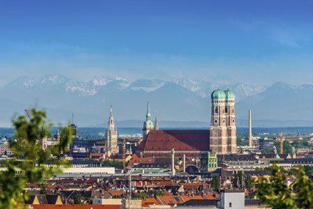 Panoramabild von München