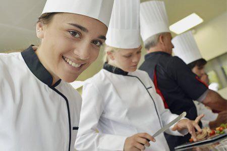 Arbeit in der Küche - stock