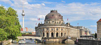 Panorama Berlin, mit Blick auf die Museumsinsel und Berliner Fernsehturm