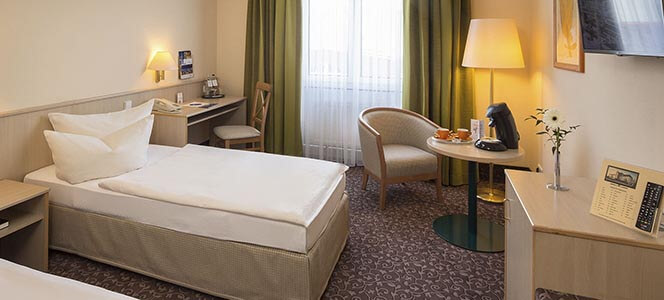 AMBER HOTEL Chemnitz Park Comfort Zimmer für 1 Person