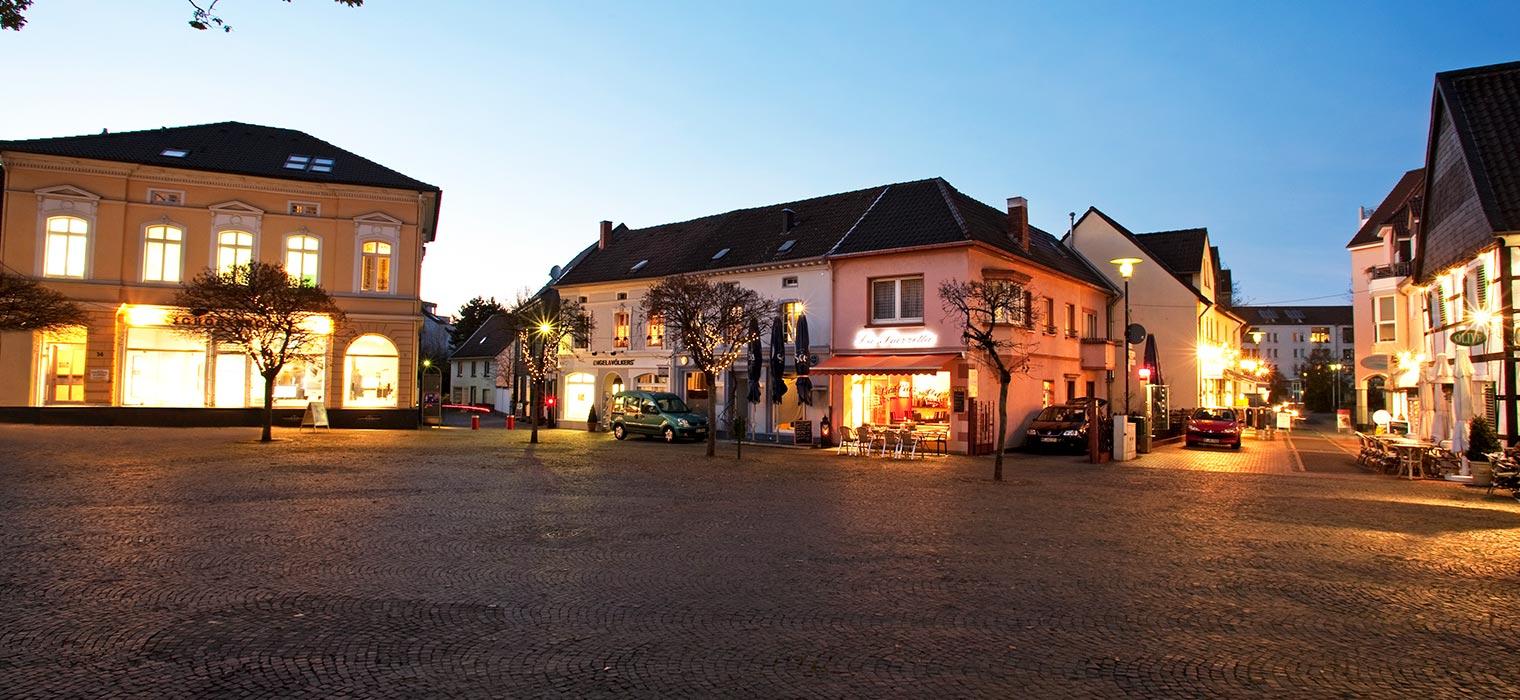 Hilden Marktplatz, Nähe AMBER HOTEL Hilden/Düsseldorf
