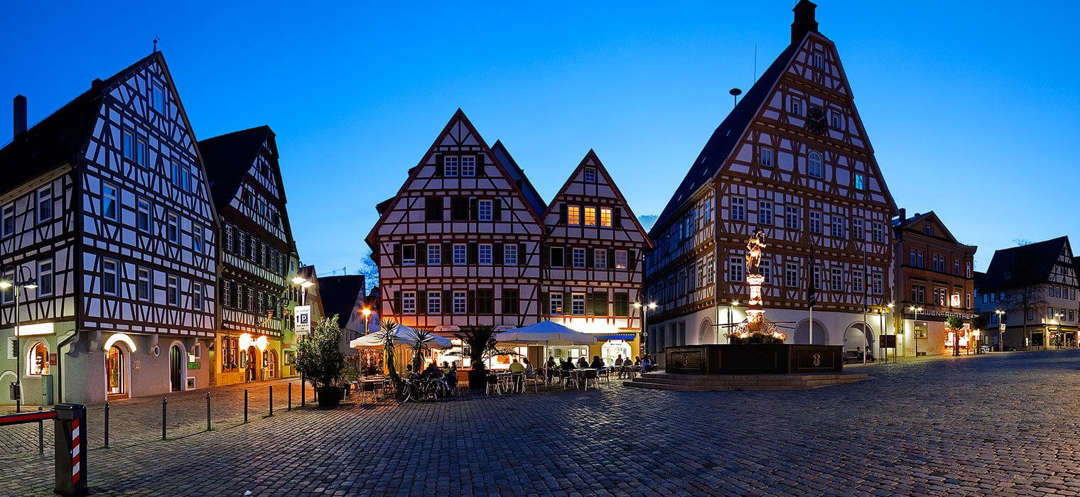 Altstadt von Leonberg, Nähe AMBER HOTEL Leonberg Stuttgart
