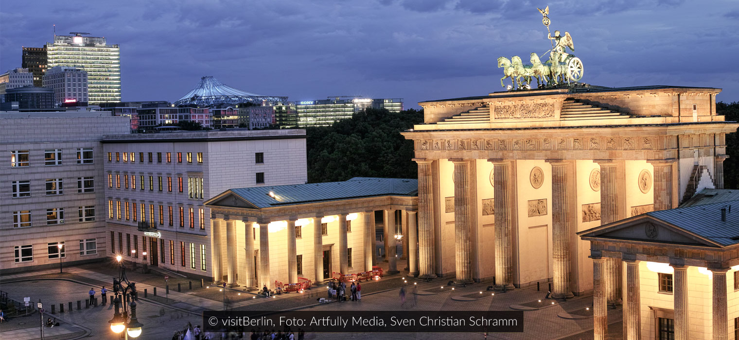 Brandenburger Tor beleuchtet